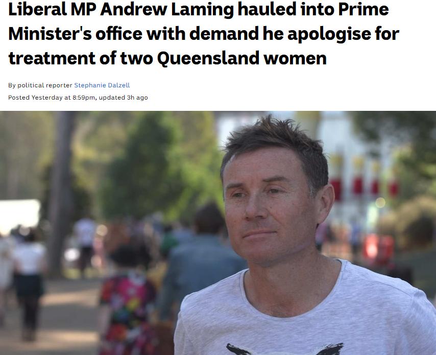 澳男议员丑闻震惊莫里森:网暴女性 躲灌木丛偷拍