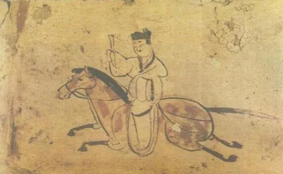 上图_ 驿使(甘肃嘉峪关魏晋墓砖画)
