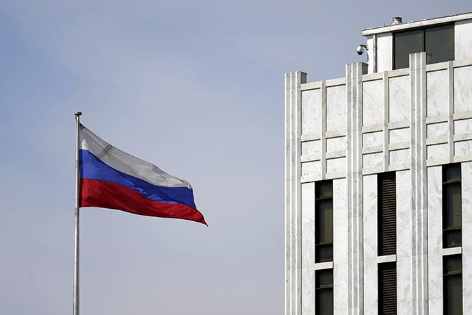俄罗斯驻美大使馆。人民视觉 资料图