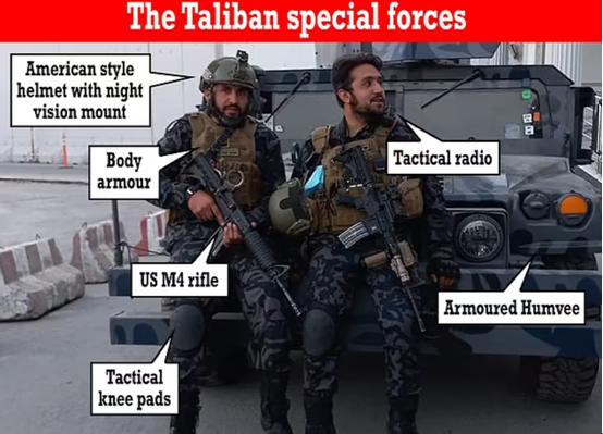 """""""塔利班特種部隊""""現身喀布爾街頭 外媒:裝備太先進"""