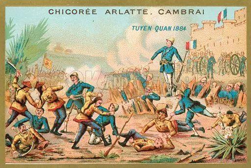 ▲1884年的中法战争,此战后中国丧失了在越南的宗主权