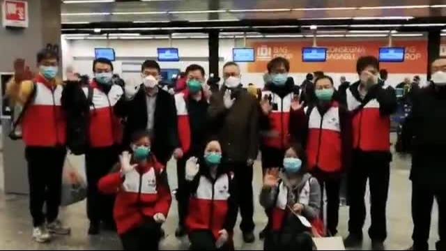 现场:首批驰援意大利医疗专家组启程回国