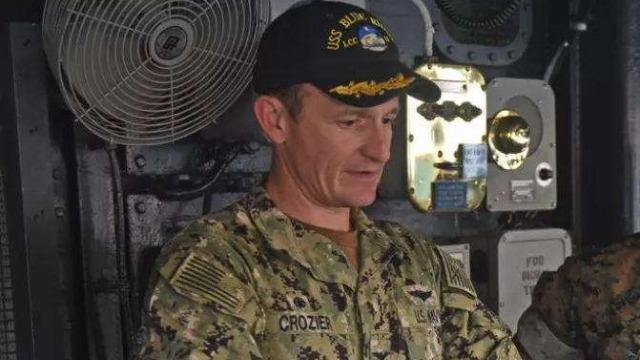 美航母舰长因疫情发信求援遭免职 海军总部对其失望