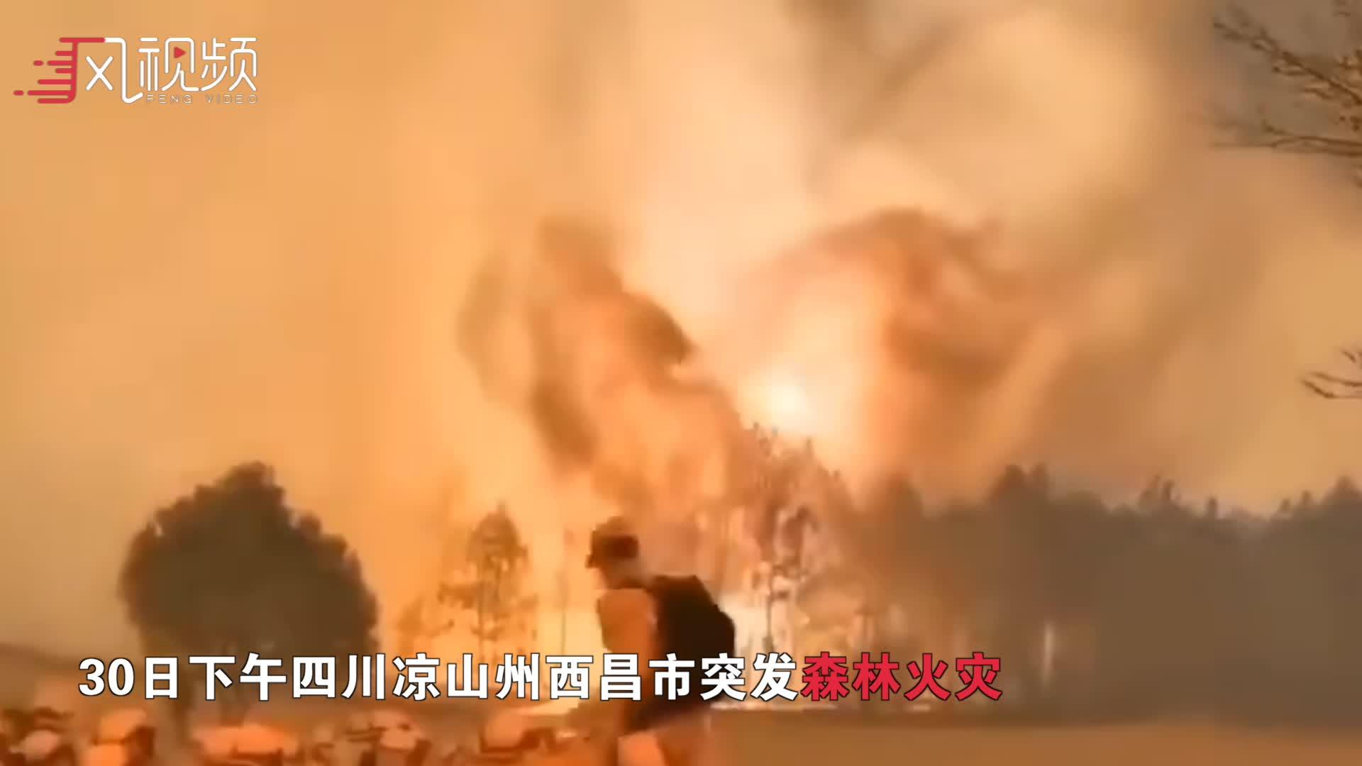 四川西昌突发森林火灾,火光冲天!黄烟弥漫城区