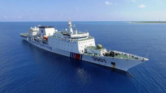 美国海军骚扰黄海 遭中国万吨海警船跟随监视!