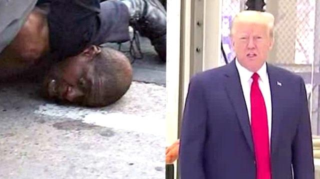 黑人男子哀求中被美国警察踩颈死亡 特朗普表态