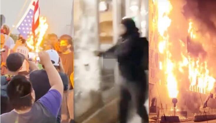 打砸抢烧!美国多城市爆发骚乱 街道如战场