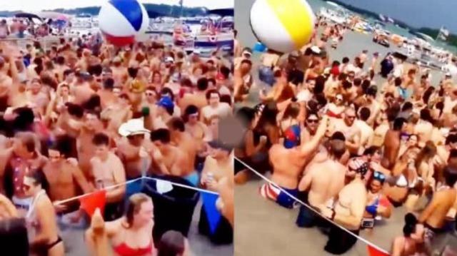 美国大型户外蹦迪现场:不戴口罩裸身 多人感染新冠