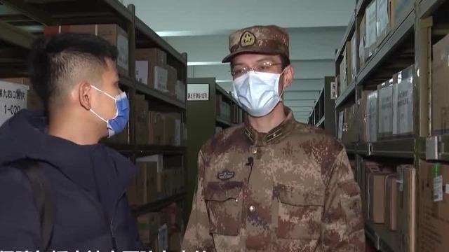 记者探访解放军物资仓库:摆放有序 保障火神山