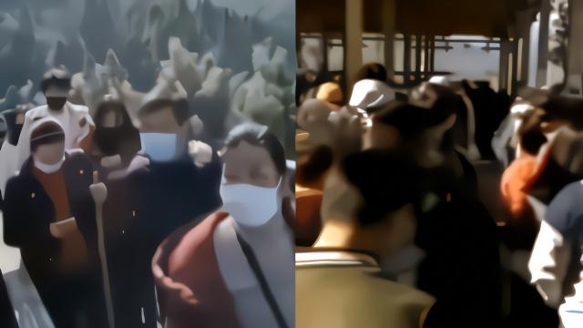 武功山恢复开放游客爆满 景区紧急限流3000人