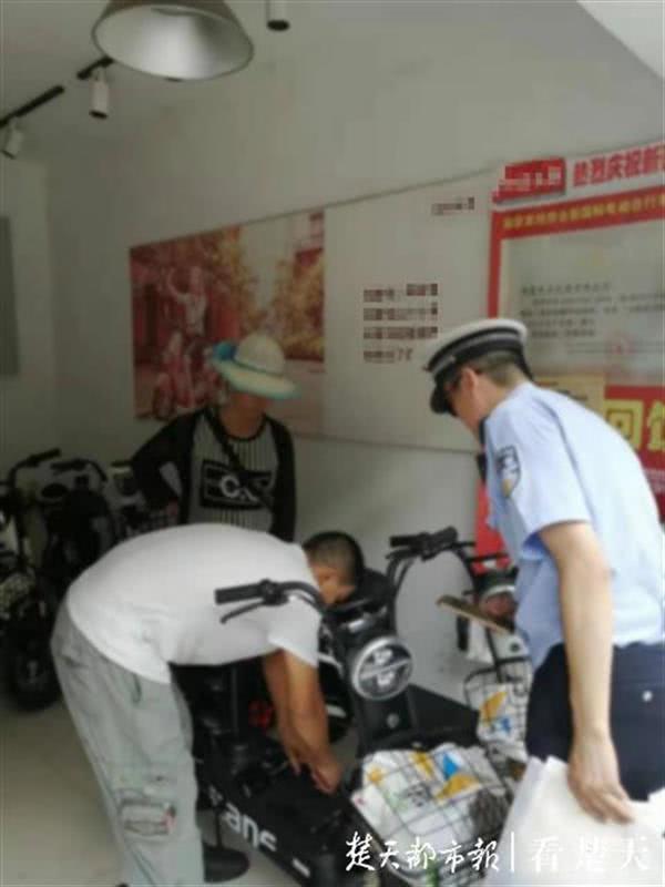 武汉交警再掀整治电动车行动 查扣违规车590辆