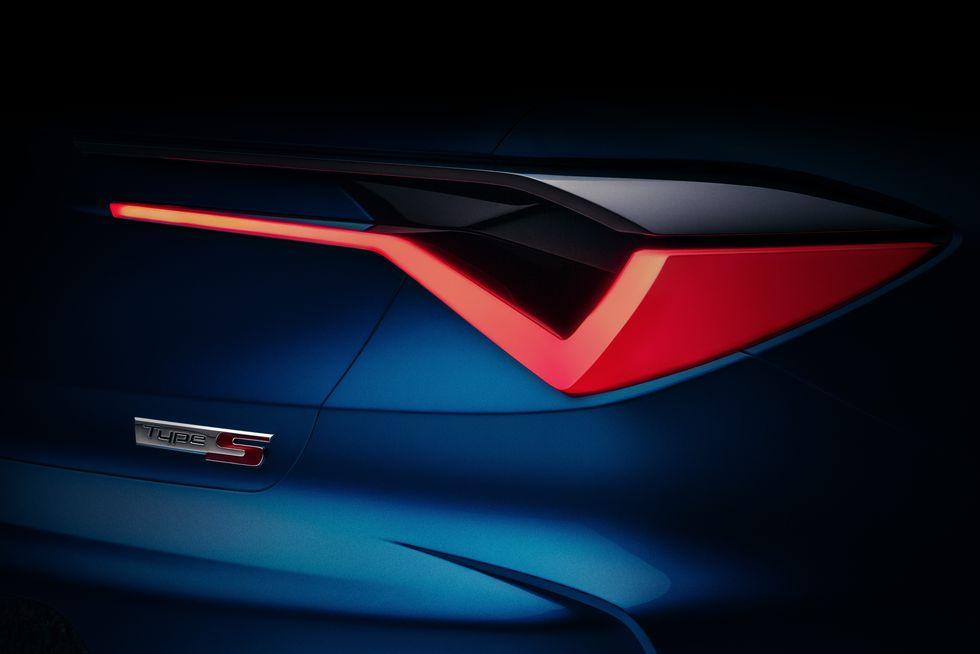 讴歌Type S概念车预告图 揭示全新TLX设计方向