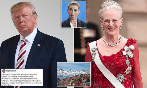 特朗普购岛遭拒后推迟访问行程 丹麦女王发话了