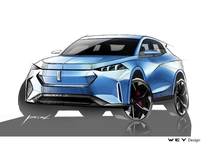 WEY品牌最新概念车曝光 将于法兰克福车展亮相