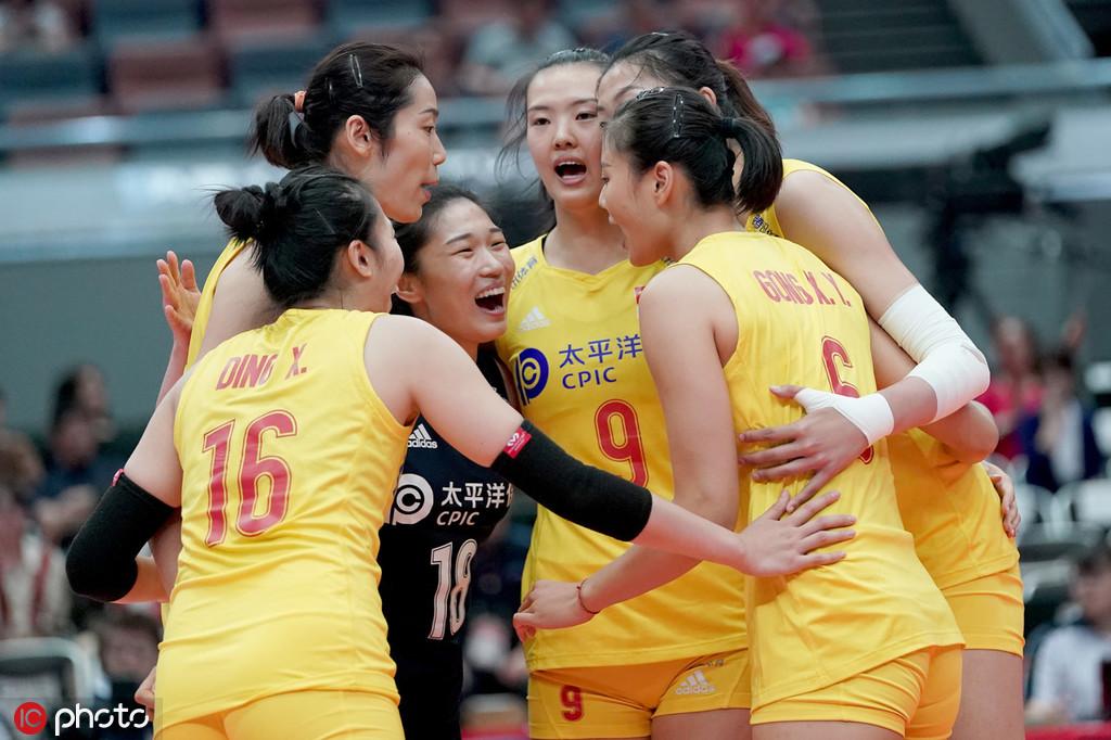 北京时间9月28日,女排世界杯第三阶段比赛。