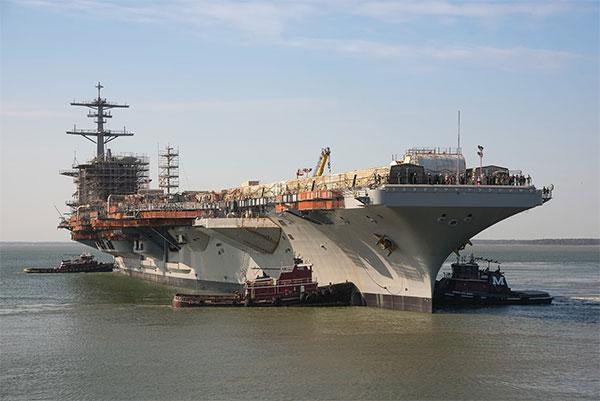 华盛顿号航母从干船坞下水 将成同型航母中最强