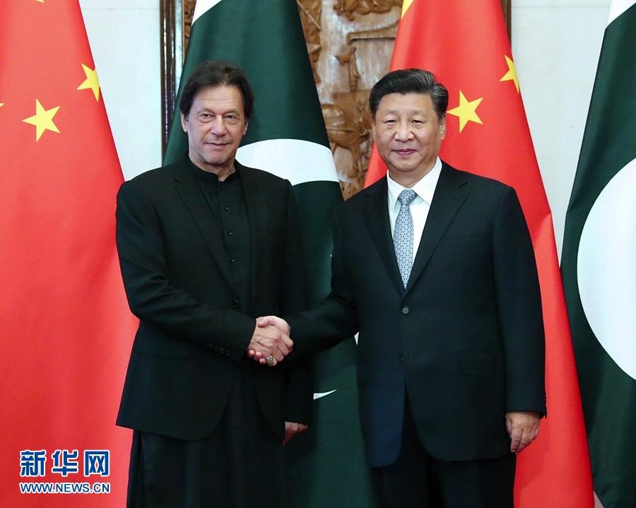 国家主席习近平9日在钓鱼台国宾馆会见巴基斯坦总理伊姆兰·汗。