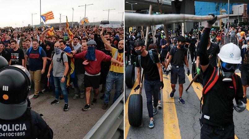 英国网友质问BBC:为何只报道香港示威,不报加泰罗尼亚?