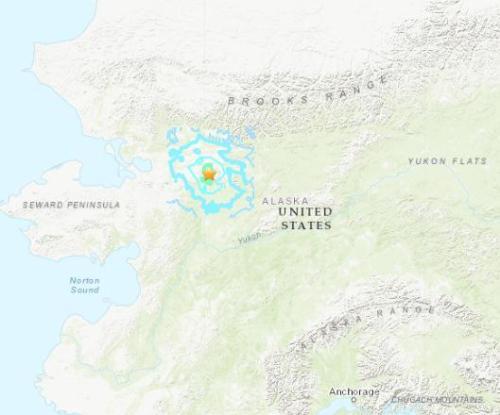 美国阿拉斯加发生5.2级地震 震源深度17.5千米