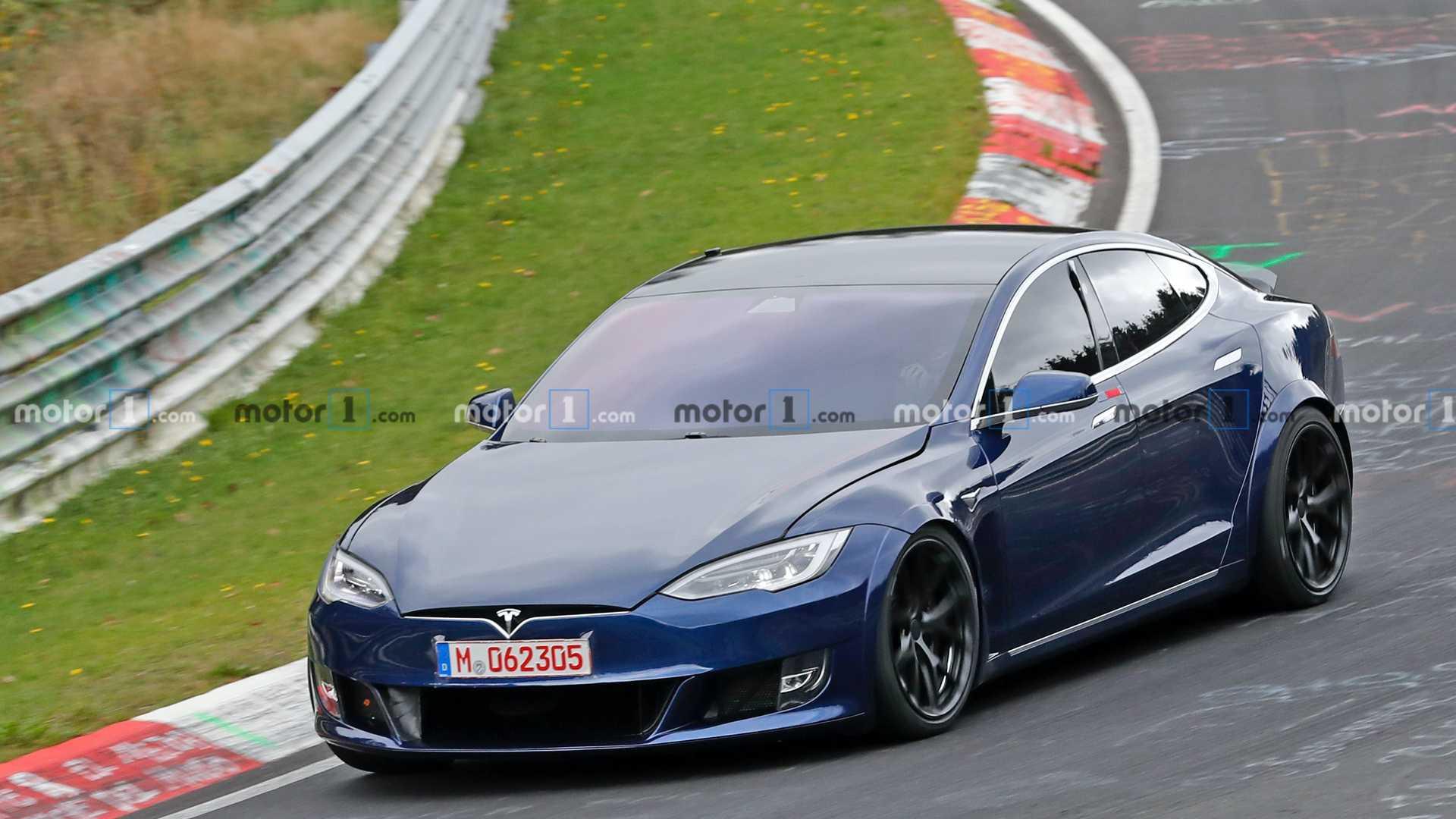 特斯拉Model S路试谍照曝光