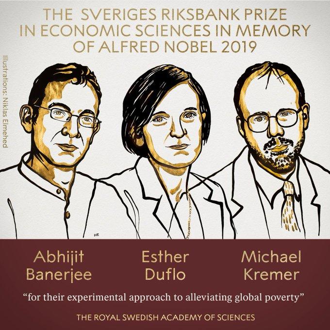 致力于减轻全球贫困 三人获2019年诺贝尔经济学奖