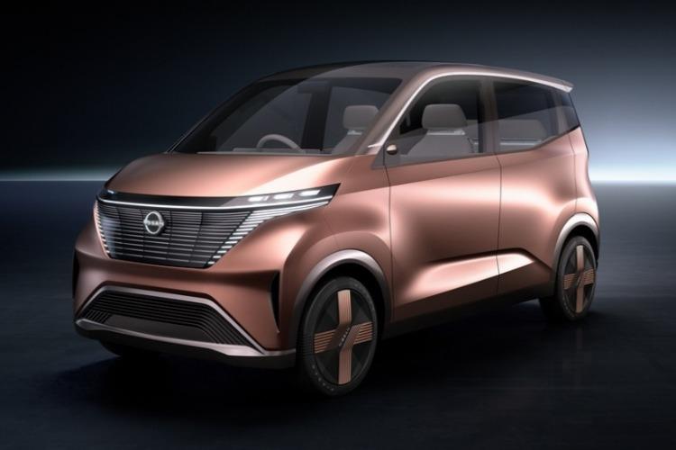 <b>日产汽车发布IMk纯电动概念车</b>