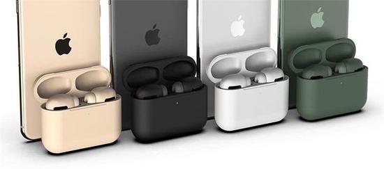 蘋果AirPods Pro將有8種配色 包含黑、白、夜幕綠等配色 預計起價為260美元