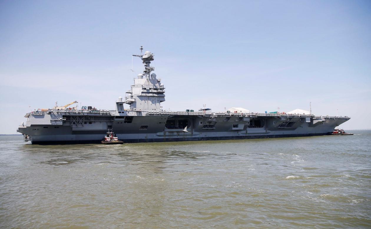 """福特号新航母无法作战 美海军担忧""""航母空窗期"""""""