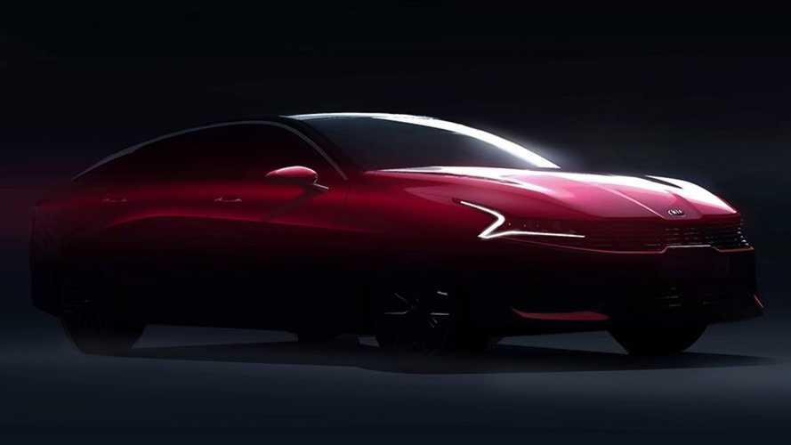 全新一代起亚K5设计草图曝光 有望2020年正式推出