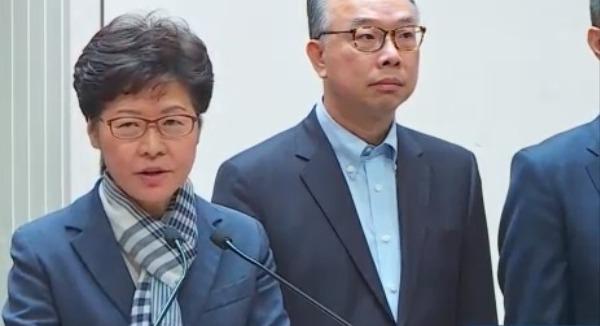 林郑月娥:暴徒不会得逞 胡乱伤害市民不会争取到政治诉求