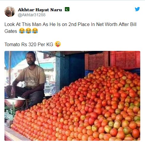 """巴基斯坦番茄价格火箭般飞涨 网友:堪比黄金的""""求婚利器"""""""