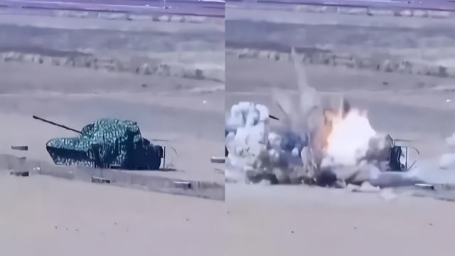 """""""飞豹""""战机低空突防发射火箭弹 地面""""坦克""""被瞬间击毁"""