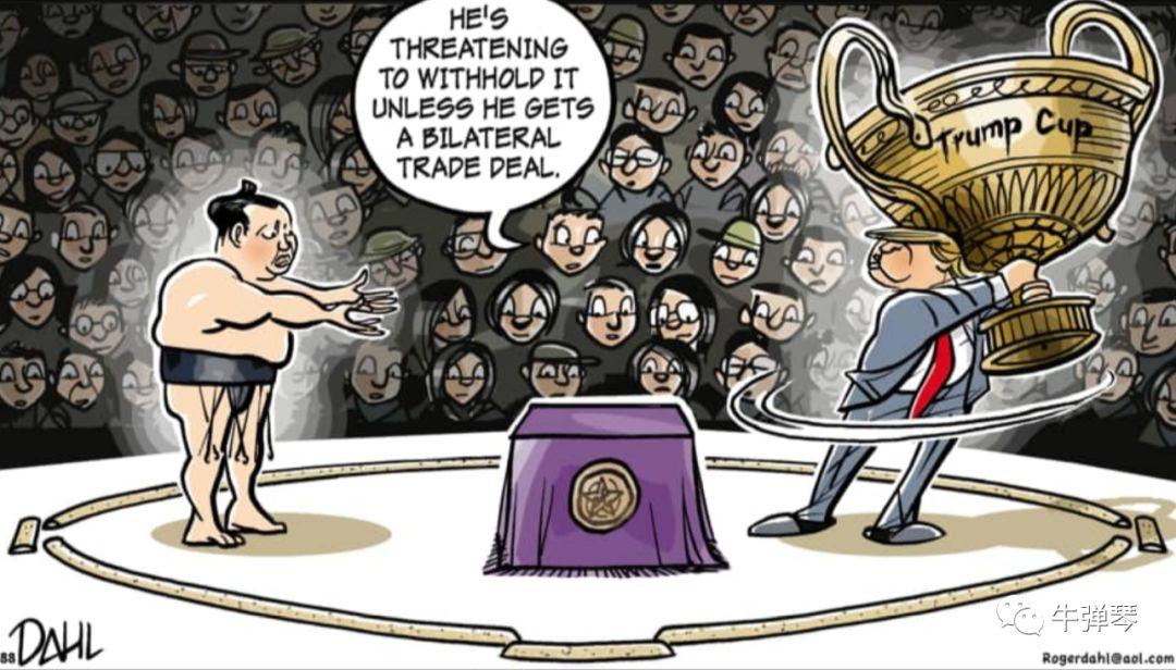 """特朗普的""""温柔竹杠"""":你们这么富有 为什么不多交点""""保护费"""""""