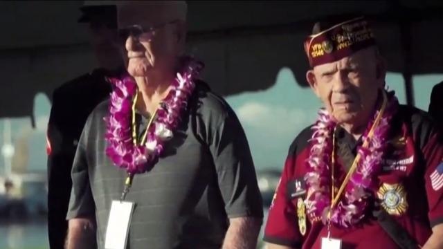日本偷袭珍珠港78周年纪念仪式举行 90多岁二战老兵出席