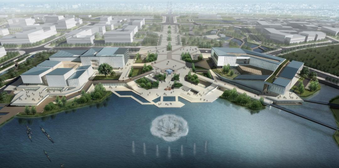 项目计划建设成以广府美术馆为主,兼具艺术展览、公共服务、文旅商业、休闲消费、文化创意等多种功能的佛山西部文化综合体,预计在2023年完工。