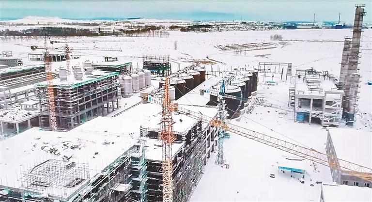 ①施工中的年产30万吨生物燃料乙醇项目