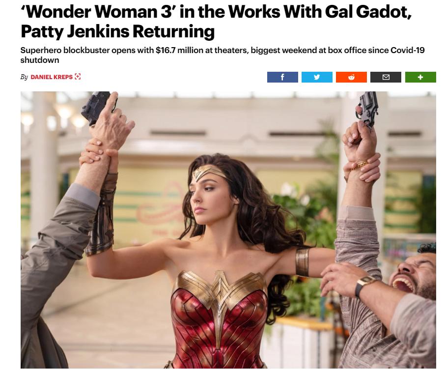 《神奇女侠3》制作中,盖尔·加朵回归主演