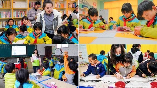 ▲社会各方力量为孩子们带来阅读、环保、绘画等多主题微课堂