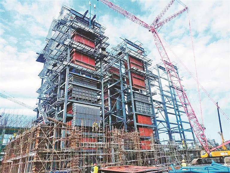 ②施工中的年产30万吨生物燃料乙醇项目