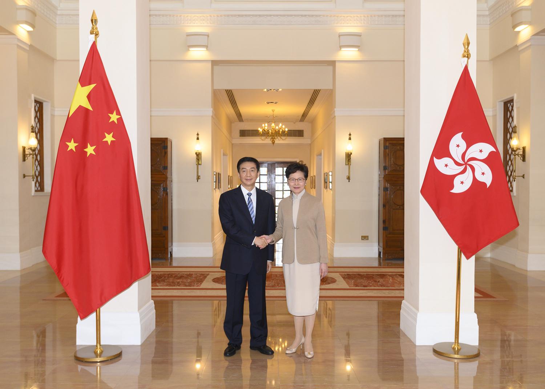 駱惠寧拜會香港特區行政長官林鄭月娥