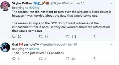 伊朗承认击落客机后外国网民仍然认为这起悲剧是美国制造的