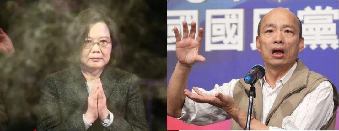 """刚当选连任,蔡英文就开始""""双杀""""韩国瑜了"""