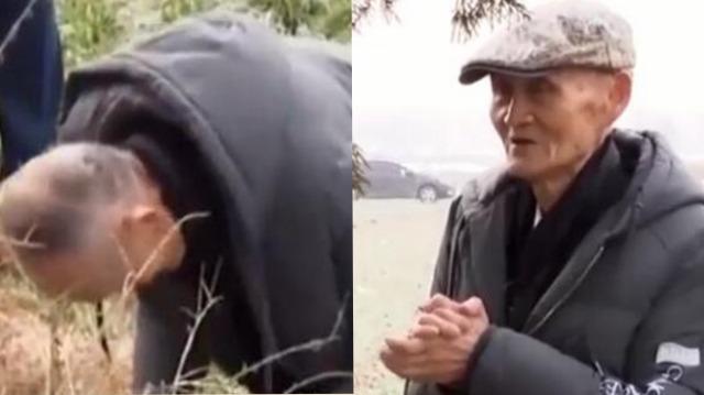 """台湾86岁老兵回山东磕头拜年 一声""""娘""""惹人泪目"""