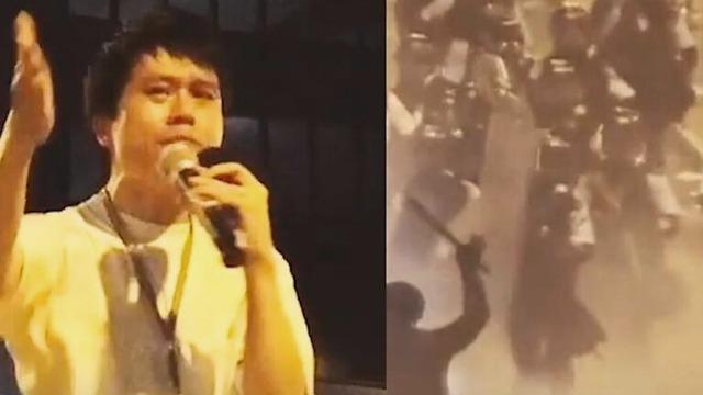 香港反对派议员倾巢出动 带头上街煽动暴乱恐吓警察