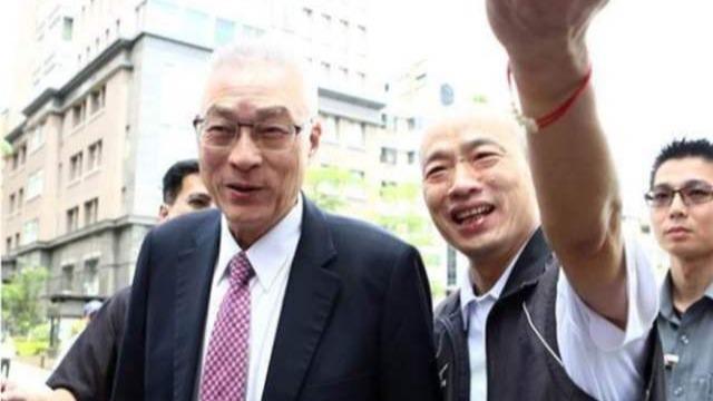 吴敦义请辞后首次与韩国瑜会面 两人双手紧握