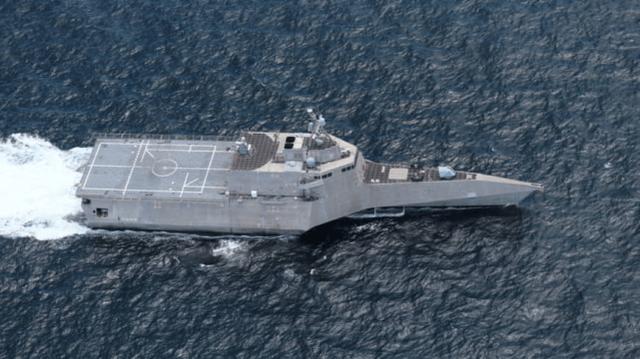 美海軍瀕海戰斗艦新年首闖中國南沙群島