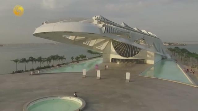 巴西有一座神奇博物馆 造型堪比鬼斧神工!阳光不同景色不同