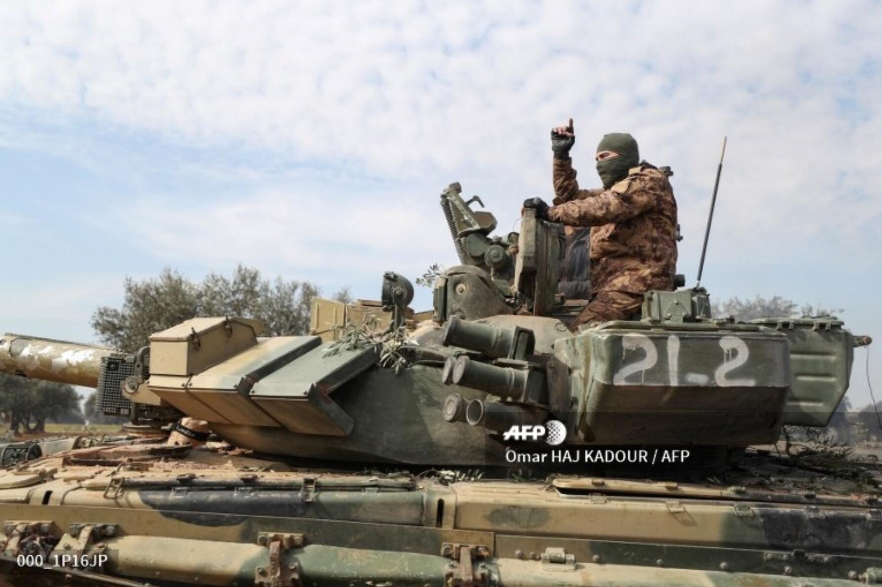 叙利亚政府军弄丢T-90坦克再次现身战场已成敌人