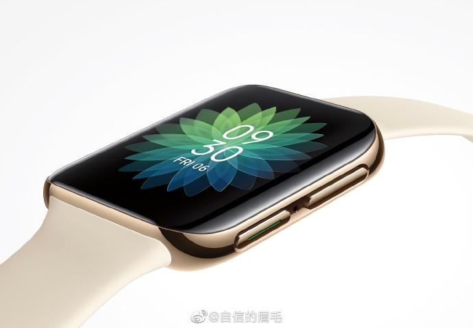 OPPO首款智能手表前面板现身:双曲面很明显插图1