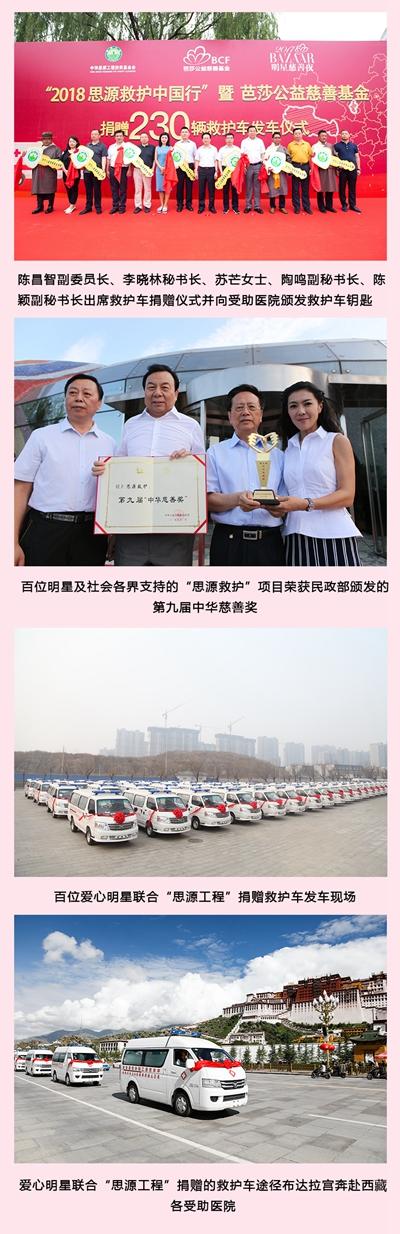 百位明星与3692辆救护车的慈善之路